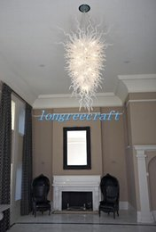 Wholesale Large Bulb Pendant Light - Free Shipping Mouth Blown 110v 120v LED Bulbs Hotel New Light Villa Lobby Dome Pendant Light Large
