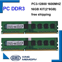 Wholesale Desktop 16gb - free shipping desktop DDR3 16gb 1600Mhz 16GB (Kit of 2,2X ddr3 8GB) PC3-12800 Brand New work longdimm desktop