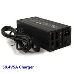 Wholesale 48v lifepo4 - 58.4V5A Charger 16S 48V LiFePO4 Battery Smart Charger 360W high power Charger Global Certification