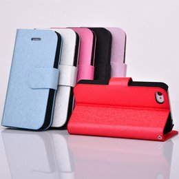 Wholesale Silk Wallet Case - For Iphone 6 6S 7 7Plus for samsung S4 S5 S6 Note3 4 5 Silk pattern flip phone Wallet Credit Card Holder Cover