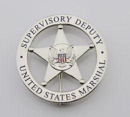 Wholesale Cartoon Badges - United States emblem MARSHAL SUPERVISORY DEPUTY US federal court law enforcement badges Silver