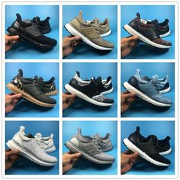 Wholesale Aqua Blue Top - Ultra Boost 3.0 Shoes Triple Black White Multi-color Trace Khaki Aqua Mens Womens Boosts Size EU36-45 Top Quality Real Boost Wholesale