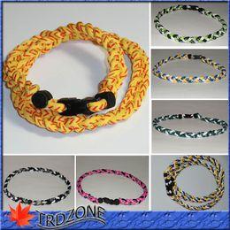 Wholesale Titanium Softball Necklaces - 2016 Titanium Ionic Braided Necklace - Softball
