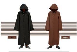 Wholesale Plus Size Halloween Cape - Hot selling New STAR WARS JEDI  SITH Hooded Cape Cloak Halloween Cosplay Costume Robe plus size costume S-2XL