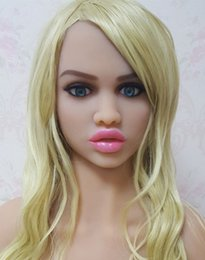 Wholesale Life Size Beautiful Sex Dolls - DL #64 beautiful face sex doll head for big size sexy dolls 135cm 140cm 148cm 153cm 152cm 155cm 158cm 163cm 165cm 170cm
