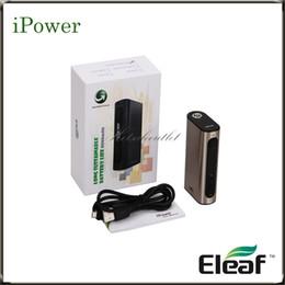 ss dual battery mod Desconto Eleaf iStick Power TC Bateria Mod com Bateria Integrada de 5000mAh iPower Mod Saída Max 80W 510 Spring Connector 100% Original