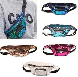 Wholesale Waist Pouch Bags - Mermaid waist bag sequins Glitter Festival Waist Bum Bag Pouch Hip Purse Glitter Travel Hip Purse Zip Pouch Shoulder Bags LJJK741