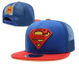 Wholesale Superman Snapback Cap - Superman Kids Base Ball Hats djustable Caps Sports Caps Snap Back caps Fashion Sun Hat Snapback Ball Caps for children hq