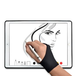 Wholesale Sketch Painting - TFY Artist's Drawing Anti-Fouling Glove with Two Fingers for Graphics Tablets and Tablet Monitors and sketch Painting - 1 Piece