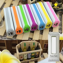 Wholesale Usb Backup - 2000Mah Mini Portable Power Bank Backup Battery USB Universal Charger with Retail Package+Cable for Mobile Phone