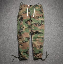 Wholesale Animal Connections - Hip Hop Factory Connection Mens clothing military tactical cargo Pants Casual Fashion west camouflage camo Joggers