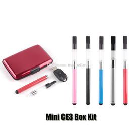 Wholesale Threading Metal - Mini CE3 Box Kit 280mAh Battery Oil Bud Touch Vaporizer O Pen Vape 510 Thread Cartridges DHL