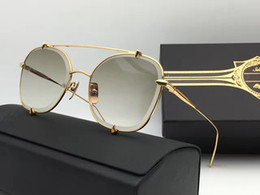 Wholesale Tas Metal - New Luxury Brand Sunglasses TA LON 2 3.0 Men Sunglasses Pilots Metal Crystal Cutting Frame 18K Gold-Plated UV400 Lens Top Quality With Box
