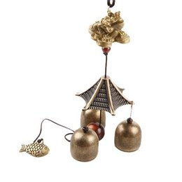 Wholesale Bronze Wind Bells - S5Q Classical Bronze Bells Fengshui Hanging Wind Chimes Home Decoration Souvenir AAAGCO