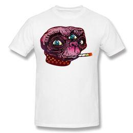 Wholesale Unique Mens Shorts - Mens Shorts T-Shirt Printed Tee Extra Alien Homem Short Sleeve Shirts Mens Purple Unique Crewneck White Cotton Shirt Mens
