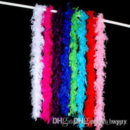 Wholesale Pink Feather Boas - Best Feather Boa Fluffy Flower Craft Costume Dressup Wedding Party Home Décor Fire Feather Feathers Home Decoration Feather Household Act Th