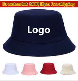 Wholesale Fitted Blank Caps - Cotton Sun Hats For Fishing Plain Fisherman Hat Custom Caps Blank Bucket Hats For Adults Sport Bucket Welcome Your Logo