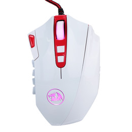 Wholesale Gaming Programmable - REDRAGON 16400DPI Professional Adjustable Wired Gaming Mouse 18 Programmable Buttons Gaming Mouse for PC Computer Laptop DHL