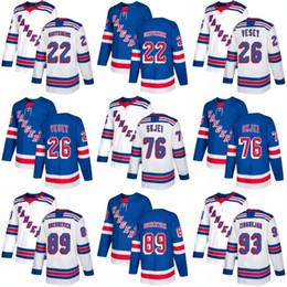 e35b883d4  22 Kevin Shattenkirk Jersey New York Rangers 76 Brady Skjei 89 Pavel  Buchnevich 93 Mika Zibanejad Custom Hockey Jerseys White Blue
