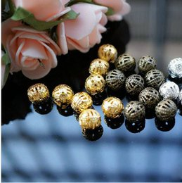 Wholesale Metal Shapes For Jewelry Making - 300pc Hollow Ball Shape Metal Beads 8mm Spacer Charm Bead Wholesale Beads Jewelry Supplies For Jewelry Making