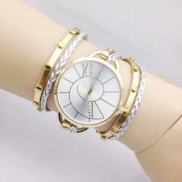 Браслеты для шпагата онлайн-Алмазный циферблат часы ленты шпагат браслет наручные часы женщины ткать манжеты кварцевые часы handress ювелирные изделия на Рождество Хэллоуин 230102