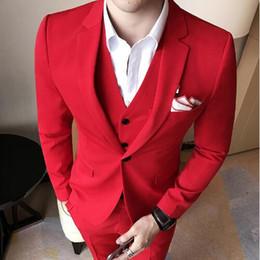 Wholesale Men S Wedding Suit Back - New Formal Tuxedos Suits Men Wedding Suit Slim Fit Business Groom Suit Set S-4 XL Dress Suits Tuxedo For Men