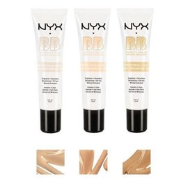 Wholesale Cream Products - Super NYX BB Cream Faced Foundation Makeup Products Concealer Easy To Wear NYX concealer Gift Free Shipping