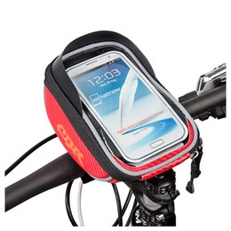Wholesale Bicycle Bags Handlebar - Bicycle Pouch Arrival 5.5 inch Bicycle Touchscreen Phone Bag Bike Front Handlebar Bag to Bike for 6 Plus 3 Colors