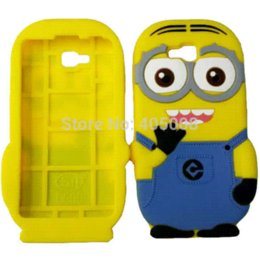 Wholesale Optimus L9 Back Cover - 3D Cute Cartoon Despicable Me Soft Silicone Case Back Cover Case For LG Optimus LG L9 II D605 Rubber Yellow Minion Phone Case