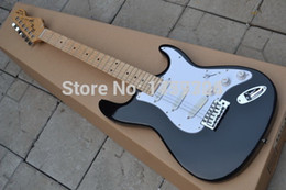 Wholesale Black Guitar Body - Wholesale Top quality - HOT SALE black st Eric Clapton Signature Maple fingerboard electric guitar free shipping 719