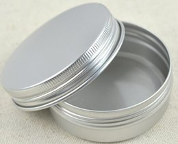 Wholesale Empty Cosmetic Pot Tin - 5 10 15 30 60 100 150 200 250 ml Empty Aluminium Cosmetic Containers Pot Lip Balm Jar Tin For Cream Ointment Hand Cream Packaging Box LLFA