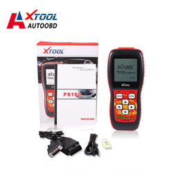 Wholesale 2016 High Quality Xtool PS100 CAN OBDII EOBDII Scanner Oxygen Tool update via internet Original PS100 Code Readers DHL Free Ship