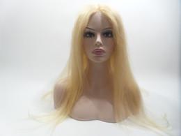 encaje importado Rebajas Pelucas llenas del cordón Densidad del cabello humano 100% Color # L27 Pelo Rubio 150% MONO Malla Corea del Sur Imported Malla Cordón lleno Cabello humano pelucas Tejido