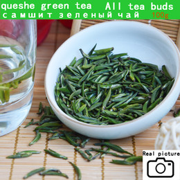New good china Queshe tea Zhuyeqing Organic Green Tea (Bamboo Leaf ) Too good to drink 100g Free Shipping Coupons