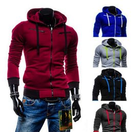 Wholesale Cardigan Big Size - New autumn and winter men's fashion casual fleece cardigan range of children men's hooded sweater coat Slim Sportswear Big Size