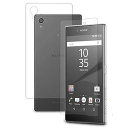 Wholesale Xperia Z Back - (Front + back) Clear Glossy Anti Scratch Screen Protector Cover Film For Sony Xperia Z1MINI Z3 Z5 Compact Z5 Premium M5 Z4