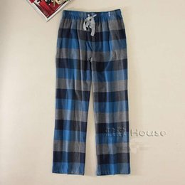 Wholesale Plaid Flannel Pants - Wholesale-2016 Autumn and winter men's fashion straight style soft flannel sleeping bottom pants male trendy plus size loungewear