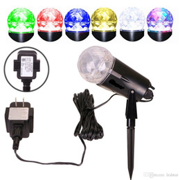 Wholesale Dual Flame - Dual Color LED Projector Indoor Outdoor Lighting Waterproof led Flood Light Wedding Christmas Bulbs Spotlight Flame Lightings