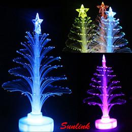 Wholesale Nice Christmas Lights - 3.5cm*12cm Seven-color fiber optic lamp led christmas light artificial christmas tree as a nice christmas gift