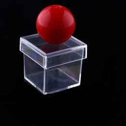 Wholesale Hot New Selling Toy - 100pcs New Amazing Funny Clear Ball Through Box Illusion Magic Magician Trick Game Sell Hotting YH120