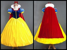 Wholesale Holiday Princess Dresses - Snow white princess children dress up halloween christmas gilrs cosplay clothes kids costumes skirts with hair accessories and cape