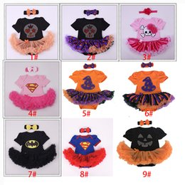 Wholesale Cartoon Ts - Halloween Cosplay Dress Costume 10 Colors Baby Super Batman rompers Dress Stage Performance Cosplay Clothing Halloween Christmas Xmas XL-TS