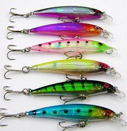 2019 5g señuelo Laser Minnow señuelos de pesca 7.5CM / 5G 8 # ganchos cebo duro pesca peces wobbler isca artificial crankbait rebajas 5g señuelo