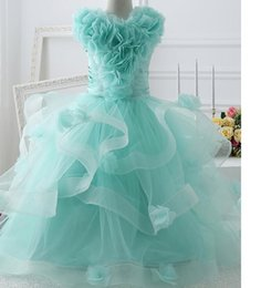 Wholesale gorgeous beauty - Beautiful wedding Pageant Dresses clothes gorgeous beauty dress birthday party girl noble first holy communion dress