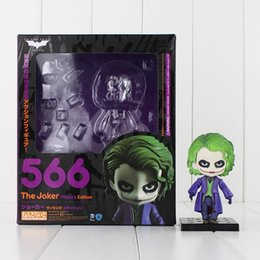 Wholesale Joker Action Figure Toys - 10cm Nendoroid The Joker Villain's Edition 5566 PVC Action Figure Collectable Model Toy for kids gift free shipping retail
