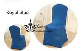 Wholesale Spandex Chair Cheap - Cheap Price Wedding Lycra Spandex Chair Cover Royal Blue Color