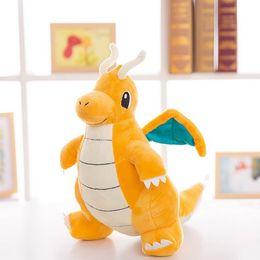 Wholesale Childhood Memories - 30Cm Dragonite Plush Toys Kid Doll For Children Gift Soft Cute Anime Pikachu Childhood Memories Dragon Toy 2017 Xmas Gift