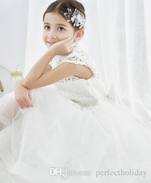 Wholesale Custom Wedding Dresses United States - The new 2016 Europe and the United States flower girl dress girls princess dress children dress long piano new spring and summer uniforms