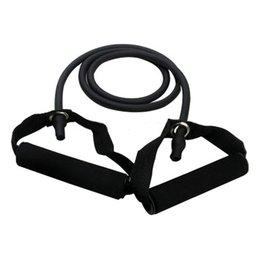 Wholesale Tube Band Resistance Set - Wholesale-LGFM-Exercise Resistance Bands Set Yoga Fitness Workout Stretch Heavy Duty Tubes Black
