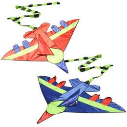 Forma di aquilone online-1 Pc Kids Flying Kite Novità Airplane Shape Aquiloni Outdoor Bambini Developmental Toy Kids Child Festival Gift Toy